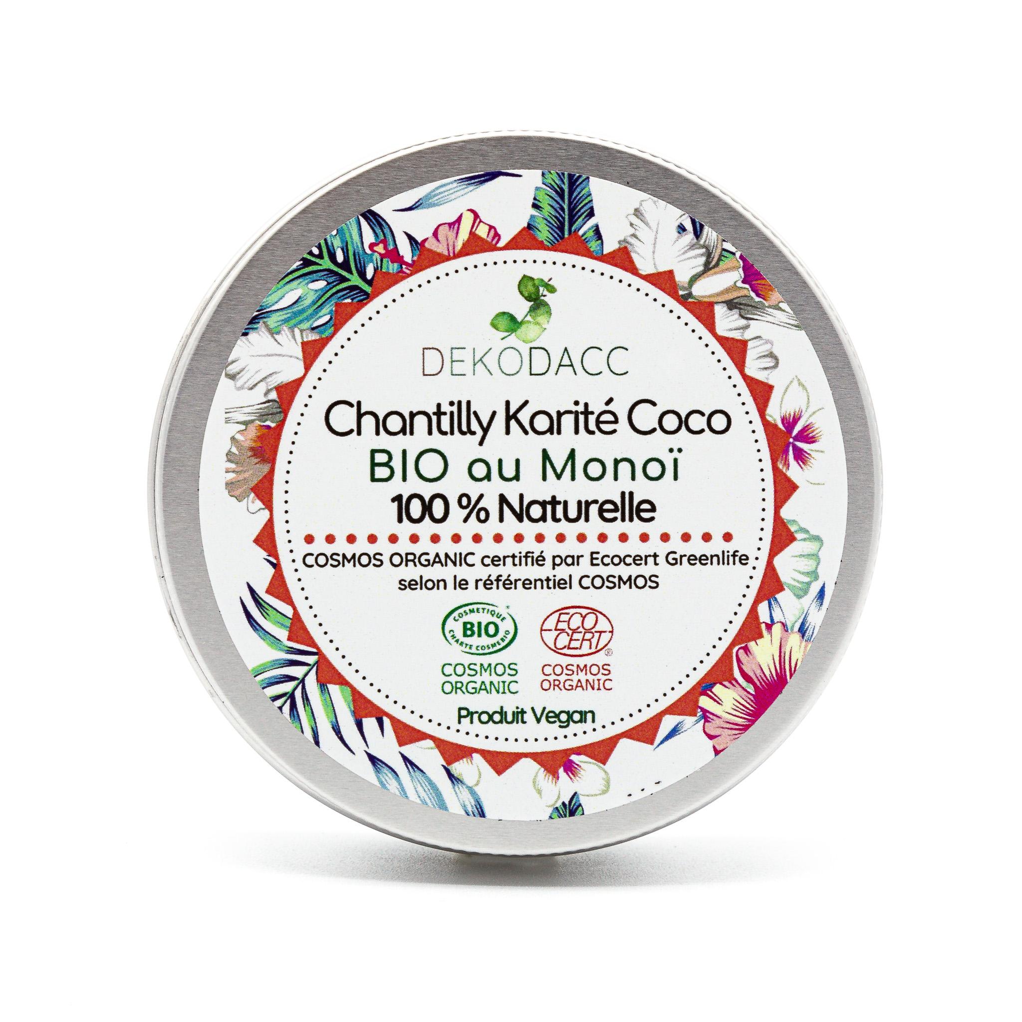 chantilly karité coco bio & vegan au monoï de chez dekodacc