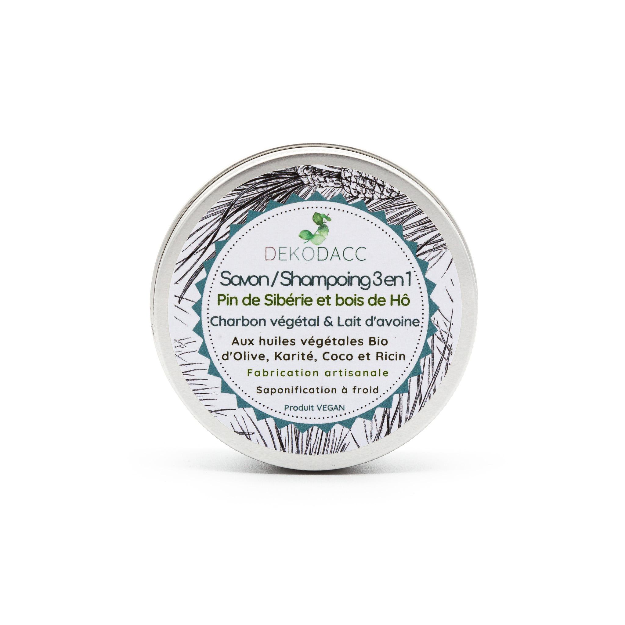 Savon naturel dekodacc 3 en 1 corps, cheveux, rasage vegan