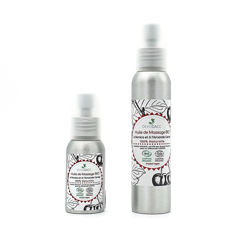 on monter les deux contenances possibles d'huile de massage
