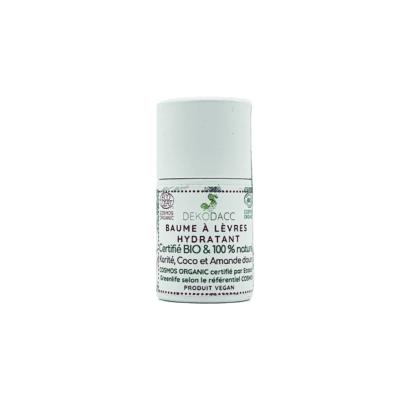 Baume à lèvres bio & vegan hydratant en stick de Dekodacc