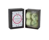 boîte de 4 fondants macarons verveine menthe dekodacc