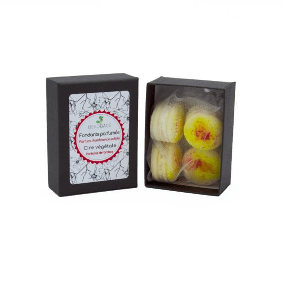 boîte de fondants macarons agrumes