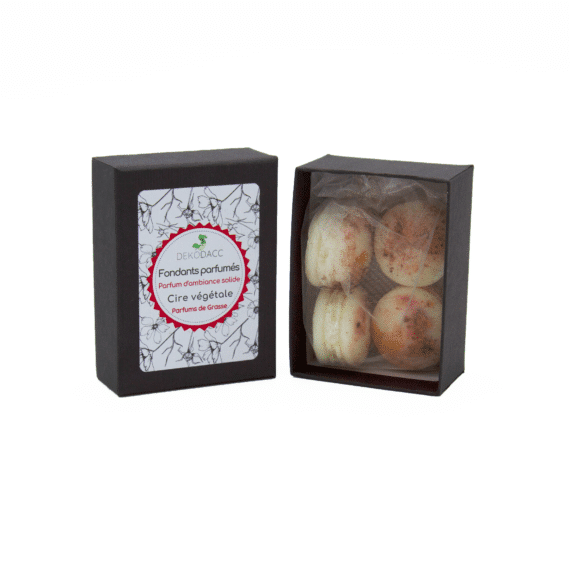 boîte de 4 fondants macarons bois de santal dekodacc