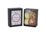 boîte de 4 fondants macarons cerise des bois dekodacc