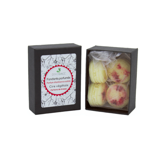 boîte de 4 fondants macarons cerise des bois