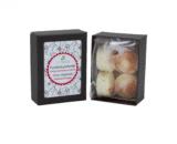 boîte de fondants macarons fleur de coton dekodacc