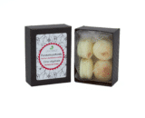 boîte de 4 fondants macarons fleur de tiaré dekodacc