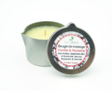 bougie de massage vanille & noisette de Dekodacc