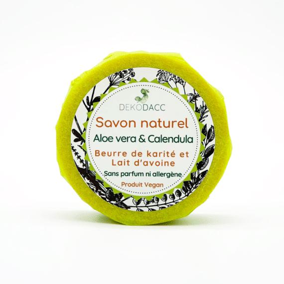 savon naturel vegan sans parfum ni allergène à aloe vera & calendulal'