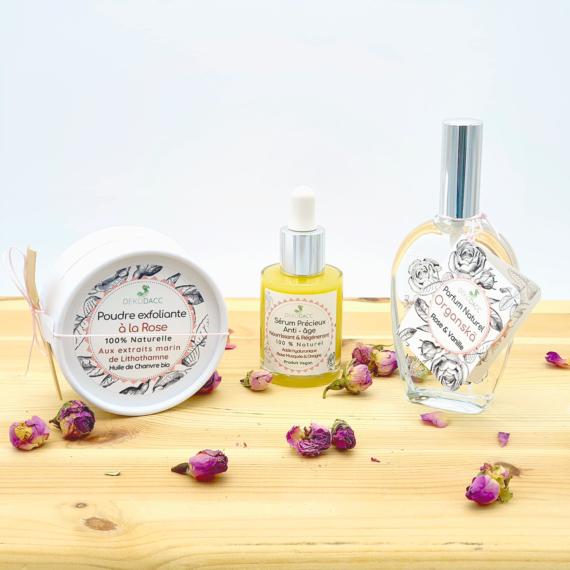 photo assortiment de produits Dekodacc à la rose
